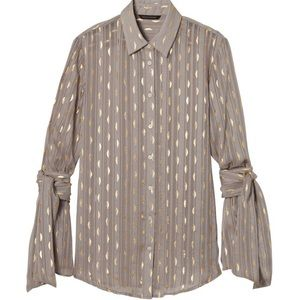 Banana Republic Dillon button up dress blouse sz L